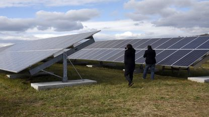 There are 8910 solar panels in Woodbine part of the Carroll County Solar Array Project, November 20, 2018.