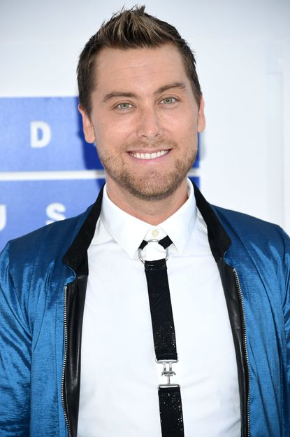 Lance Bass arrives at the MTV Video Music Awards at Madison Square Garden on Sunday, Aug. 28, 2016, in New York.