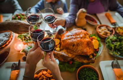 You don't want to drink too much alcohol on Thanksgiving, but no Turkey Day meal is complete without a little wine and some holiday spirits. One bottle of wine usually holds five standard drinks, which should help you calculate a drink or two per person.