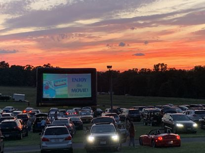 The Ellicott City Rotary Club hosted a drive-in movie series in July.