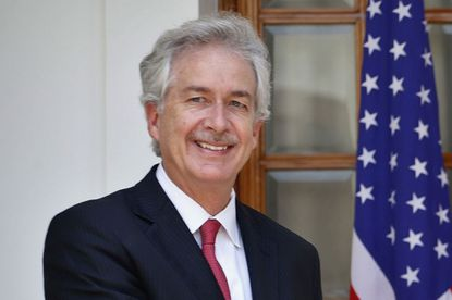 FILE - In this July 10, 2014 file photo, then U.S. Deputy Secretary of State William Burns, is shown in New Delhi, India. President-elect Joe Biden has chosen veteran diplomat William Burns to be his CIA director. Biden made the announcement on Monday. A former ambassador to Russia and Jordan, Burns rose through the ranks of the State Department to become deputy secretary before retiring to run the Carnegie Endowment of International Peace in 2014.(AP Photo/Saurabh Das)