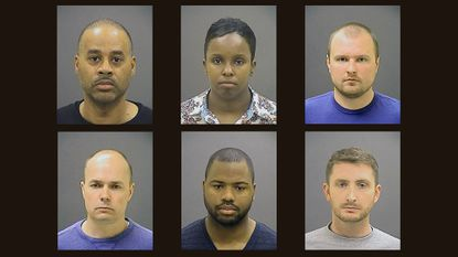 A list of evidence in the Freddie Gray case shows that all six officers charged in his arrest and death have made statements. The officers charged are: Top, from left, Caeser R. Goodson Jr., Sgt. Alicia D. White, Officer Garrett E. Miller.; bottom, from left, Lt. Brian W. Rice, Officer William G. Porter, Officer Edward M. Nero. All have pleaded not guilty.