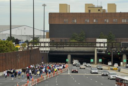 People participate in the 2011 event at the Fort McHenry Tunnel to benefit the Special Olympics.