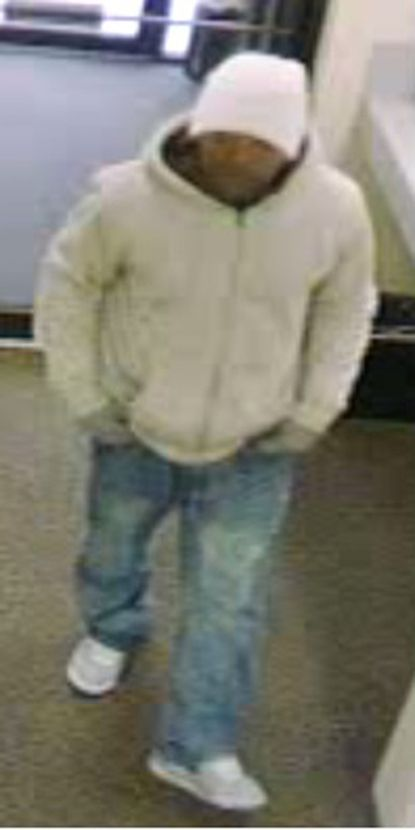 A Wells Fargo bank on Frederick Road in Catonsville was robbed Wednesday, making it the fourth Wells Fargo bank to be robbed by the same man, pictured, in the Baltimore area since March 24.