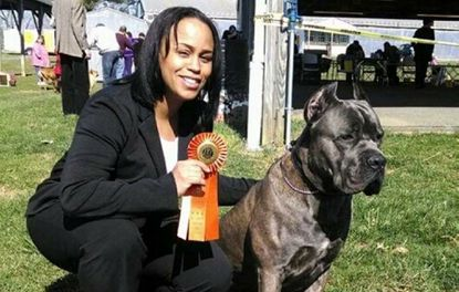 Vickie Venzen, of Abingdon, and Face, her Cane Corso, will be competing in the Westminster Kennel Club dog show in New York next week.