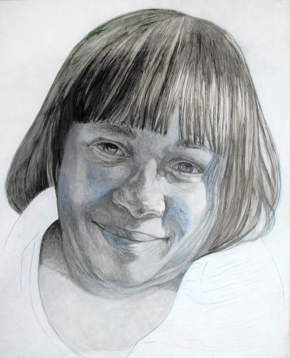 """A portrait of Juanita Brown by Nicole Buckingham Kern, part of the """"Autumn Leaves"""" project created by artist Peter Bruun"""