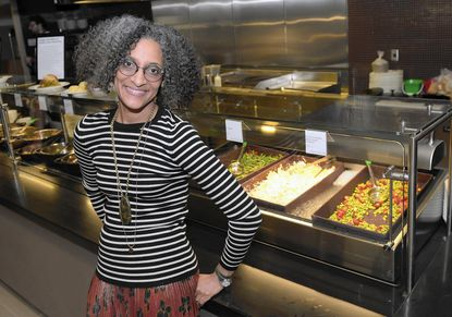 "Carla Hall, co-host of ""The Chew"" co-host and a ""Top Che"" alum, is culinary ambassador for the National Museum of African American History and Culture's Sweet Home Cafe, which serves many soul food dishes."