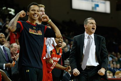 Maryland's Seth Allen (left) could return to action Sunday, giving coach Mark Turgeon another option at the Terps' two guard spots.