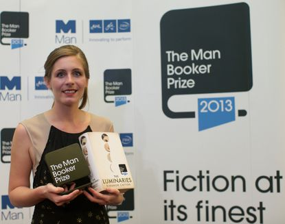New Zealand author Eleanor Catton poses after winning the 2013 Man Booker Prize for Fiction for her book 'The Luminaries' in central London on October 15, 2013. AFP PHOTO/ANDREW COWIEANDREW COWIE/AFP/Getty Images ORG XMIT: 1881
