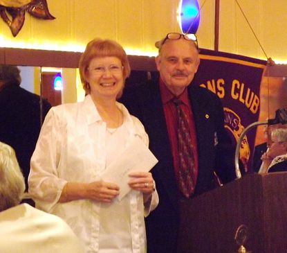 Dottie Hill and Charles Tibbils are pictured at the Lions Club of Reisterstown's 63rd annual Charter and Installation Night at Full Moon Pub and Grill June 19.