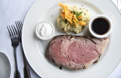 The prime rib with Yokin gold mashed potatoes at the Chart House, which will be open on Christmas Eve and Christmas Day.