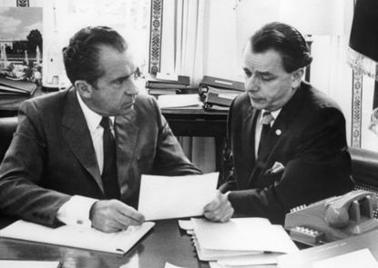 """In June 1971, President Richard Nixon declared a """"war on drugs"""" and in the ensuing half-century, the unwinnable war has cost $1 trillion, filled America's prisons, dispensed harsh sentences for non-violent drug-related offenses,and given rise to cartels in Latin America that put Al Capone's crime syndicate to shame. (Tribune Content Agency)"""
