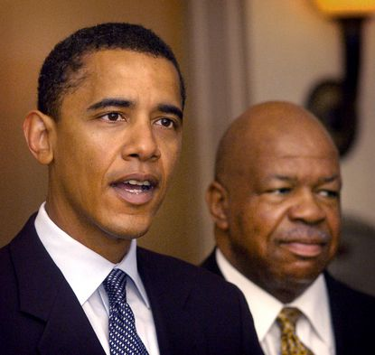 Barack Obama, Democratic candidate for the U.S. Senate in Illinois, was in Baltimore for a private fundraiser with Rep. Elijah Cummings in September 2004.