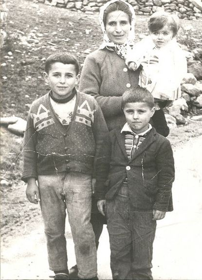 A young Sasho Cirovski (right foreground) in his native Macedonia in about 1969 with brother Vancho, mother, Ljubica, and sister Diana.