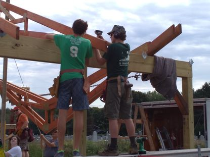 North Carroll: Pavilion constructed at Greenmount United Methodist Church for Eagle Scout project