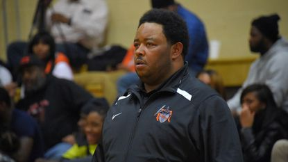 Daryl Christopher Wade, shown here coaching the City College Black Knights basketball team, has pleaded guilty to extortion and now faces as much as 20 years in prison.