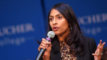 Krish O'Mara Vignarajah, a former candidate for Maryland governor, recently underwent breast cancer surgery, and said she decided to go public about the experience to help other women cope with the disease. She is shown in a 2018 photo.