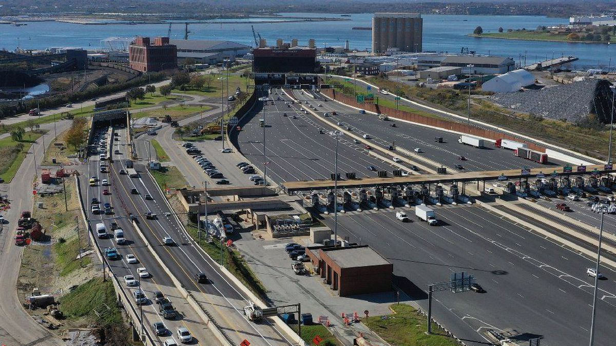 Baltimore S 895 Harbor Tunnel Toll Booths Open Again