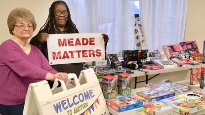Dana Herbert from Herberts Helpers, and Joyce Mills from Meade Matters, hosted a toy drive for Meade Matters Holiday Baskets Dec. 1 in Jessup,