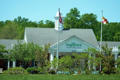 The Sage Point Nursing Home experienced in one of the largest outbreaks in the state of Maryland. Sagepoint Senior Living Services is photographed in La Plata, Maryland on May 04, 2020. The state is investigating the facility and could take action later this week.