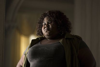 "Gabourey Sidibe as Queenie on ""American Horror Story: Coven."""