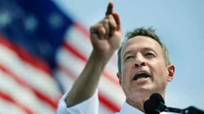 Former two-term Maryland governor Martin O'Malley announces his presidential campaign at Federal Hill Park.
