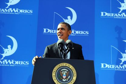 Obama praises job growth in entertainment industry