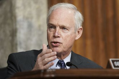 Sen. Ron Johnson, R-Wis., speaks during a Senate Committee on Homeland Security and Governmental Affairs and Senate Committee on Rules and Administration joint hearing examining the January 6, attack on the U.S. Capitol in Washington. Critics of Johnson are calling him racist after he told an interviewer on Thursday, March 11, that he wasn't worried about the supporters of former President Donald Trump who stormed the U.S. Capitol in January, but might have been concerned if they had been Black Lives Matter protesters. (Greg Nash/The Hill).