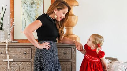 Food Network star Marcela Valladolid with her daughter Anna Carina Button at their home in Chula Vista.