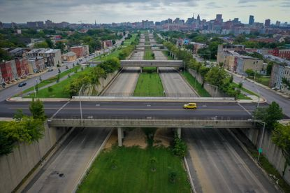 Many Black families were displaced in the 1970s so that a sunken, 1.2-mile section of U.S. 40, often called the 'Highway to Nowhere,' could be built through the middle of West Baltimore.