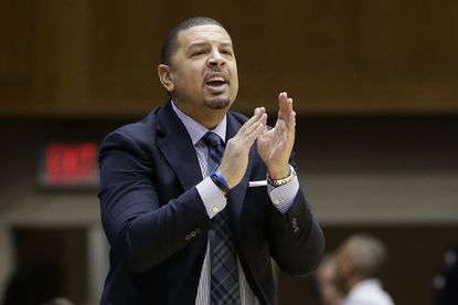 On Jan. 13, 2018, Duke associate head coach Jeff Capel directs the team during the first half of an NCAA college basketball game against Wake Forest, in Durham, N.C. Pittsburgh is turning to Jeff Capel to turn around its struggling basketball program. A person with direct knowledge of the agreement tells The Associated Press that Capel will take over Kevin Stallings, who was fired earlier this month. The person spoke on the condition of anonymity because the deal was not formally announced.