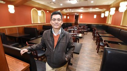 The Orient Restaurant owner David Huang stands in the eatery's new location at 416 York Road in Towson. The restaurant, which had been located down the street, has been closed for two years; the reopening is expected to take place mid-March.