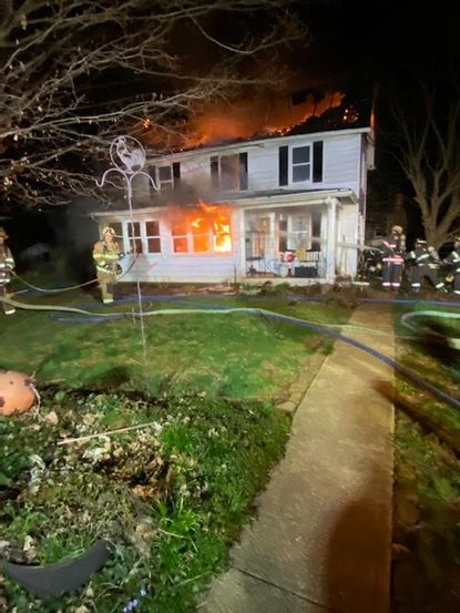 Firefighters responded to a two-alarm blaze in the 4200 block of Conowingo Road around 9 p.m. Thursday, March 26. The fire caused significant damage to home, but no one was injured.