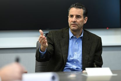 Congressman John Sarbanes of Maryland's 3rd district meets with the Baltimore Sun editorial board. He has said he would not seek impeachment of Donald Trump.