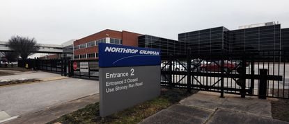 Linthicum, Md -- Exterior of Northrop Grumman facility on Aviation Boulevard. Gov. Larry Hogan's proposed budget includes a $20 million conditional loan for Northrop Grumman, designed to retain the defense and aerospace giant's Mission Systems headquarters in Linthicum and 10,000 jobs in Maryland.