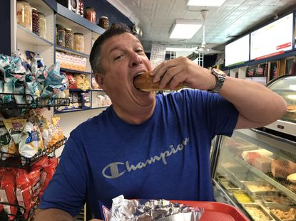 The Baltimore-style hot dog, still on the menu at Attman's Deli