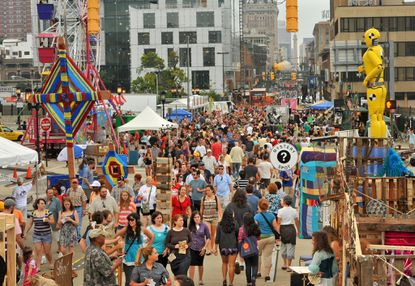 Attendance at Artscape picked up Sunday after a rainy Saturday.