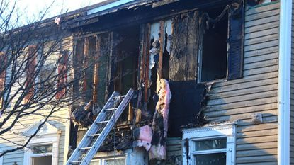 Fire crews responded to the scene located at the 6100 block of Majors Lane in Columbia at 4:50 p.m. Monday.