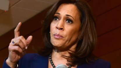 Senator Kamala Harris addressing the media last week at Howard University after announcing earlier in the day that she is seeking to become the first African American woman to be president. She will be featured in a town hall on CNN tonight.