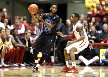 Ryan Harrow, left, and Georgia State could be a potential first-round opponent for Maryland in the NCAA tournament.