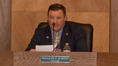 Havre de Grace Mayor William T. Martin delivers his State of the City address Tuesday night.
