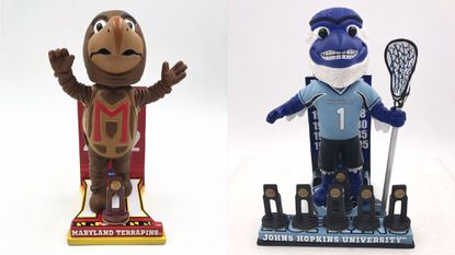 The National Bobblehead Hall of Fame and Museum unveiled bobbleheads for the Terps' 2002 men's basketball NCAA title, and Johns Hopkins' men's lacrosse nine championships.