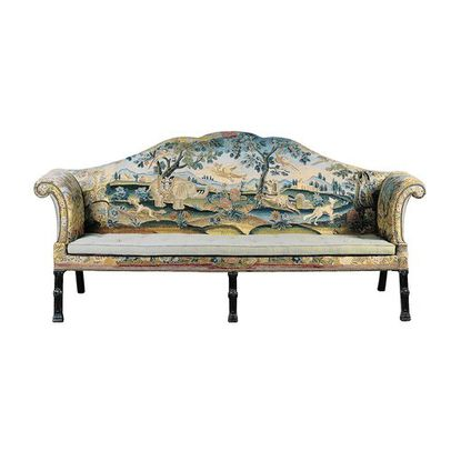 Rare George III Sofa with Embroidered Upholstery, English, ca. 1765-1775, courtesy of Tillou Gallery.
