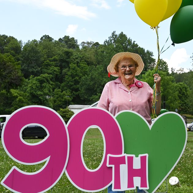 About 150 people help longtime North Harford teacher celebrate her 90th birthday on Fourth of July