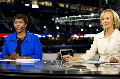 """Gwen Ifill (left) and Judy Woodruff, co-anchors of """"PBS NewsHour,"""" which has lost 48 percent of its audience during the last eight years."""