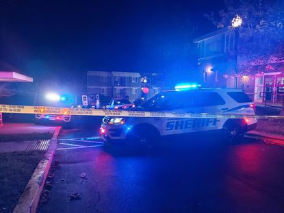 Harford sheriff's deputies on the scene of fatal shooting in the 1900 block of Edgewater Drive.