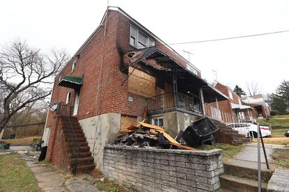 Baltimore Police are investigating a fire on Plainfield Avenue as arson.