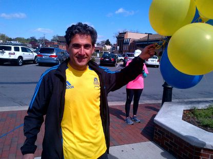 Dr. Tom Hattar, who ran in Boston Marathon on Monday, also finished 5K in Annapolis to raise funds for bombing victims.