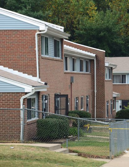 Annapolis Police say William Brown attacked Ronnesha Simms outside the home with the open screen door in the 1900 block of Copeland Street early Tuesday morning, stabbing her multiple times. A police officer who arrived during the fight shot Brown at least five times, killing him. Simms also died.