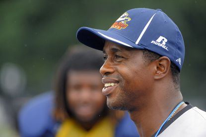 Morgan State Bears head football coach Lee Hull during football practice Aug. 22.